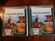 BJU GEOGRAPHY SECOND EDITION, BOOK 1 & BOOK 2