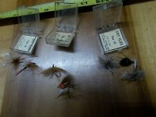 8 Vintage Glen Evans Dry Fly Flies boxed