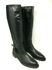 Aquatalia Leather Knee High- Tall Boots Color Black Size: 9.5