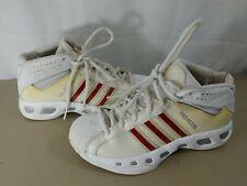 77b54dd9cca3 Adidas Men s Pro Model White Red Basketball Hi high Tops glossy 3 stripe ...