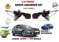pour Mitsubishi Lancer 2008- > 2 x AVANT GAUCHE + DROIT Amortisseurs 16INCH