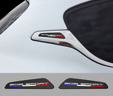 2 X LOGOS POUR PEUGEOT 208 SPORT GTI RACING AUTOCOLLANT STICKER AUTO BD558-SP