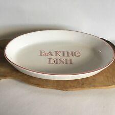Retro Monarch Baking Dish Oven To Tableware Red & White