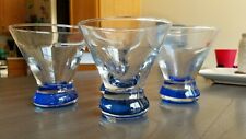 (4) Contemporary Clear Short Stemless Martini Cosmopolitan Glasses