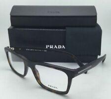 New PRADA Rx-able Eyeglasses VPR 06R HAQ-1O1 53-18 Matte Havana Frame w/ Clear