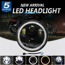 DOT 5 3/4 5.75 Inch Round LED Headlight Halo for Harley Iron 883 XL883N Davidson