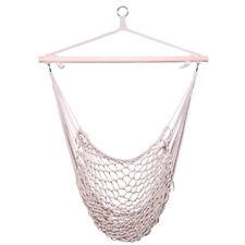 Cotton Hanging Rope Air/Sky Chair Hammock Swing Outdoor Patio Garden beige