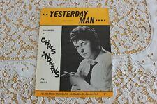SHEET MUSIC  CHRIS ANDREWS   YESTERDAY MAN
