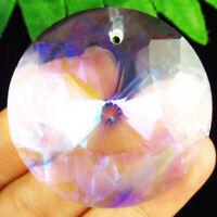 Faceted White Multicolor Titanium crystal Agate Round Pendant Bead NN1616