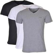 Diesel Underwear Men's UMTEE Jake 3-Pack V-Neck T-Shirt, Black / Grey / White