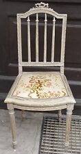 Stuhl,19.Jhdt,Empirestil,Holz hell lasiert,Polster,hell mit Blumenmuster