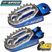 Apico Pro Morder Ancho Estriberas Azul para Husaberg Fe 390 2009 Motocross Enduro