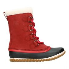 Ladies Sorel Caribou Slim Trekking Snow Rain Walking Mid Calf BOOTS All Sizes UK 5 / EU 38 / US 7 Red Element