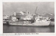 M.V. Karina at Douglas, Isle of Man Shipping Postcard, B541