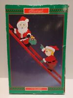NEW 1991 HOUSE OF LLOYD CHRISTMAS AROUND THE WORLD UP THE LADDER SANTA ELF