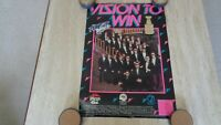 """1990-91 Buffalo Sabres """"Vision to Win""""  SGA Stanley Cup Playoffs Poster"""