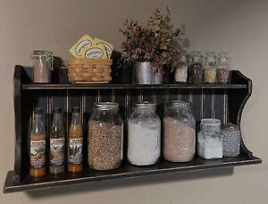 Handmade, Rustic, Farmhouse Style Stand Alone Or Wall Mount Hutch Shelf