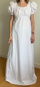 Handmade Regency style Dress short puffy sleeve, historical costume, size 2-30