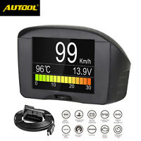 AUTOOL Car OBD2 HUD Overspeed Alarm Speedometer Computer Display Digital Meter