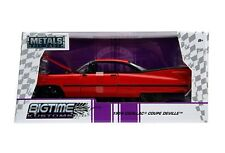 1959 CADILLAC COUPE DEVILLE RED 1/24 DIECAST CAR MODEL BY JADA 99990
