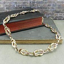 Vintage Textured Reef Knot 1/20 12K Gold Filled Choker Necklace