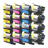 16 PACK LC103 *VERSION 3 CHIP* High Yield Ink Cartridge for BROTHER MFC-J875DW