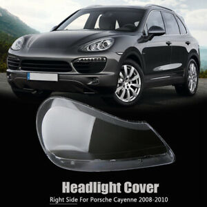 Right Side Headlight Lens Cover Transparents Shell For Porsche Cayenne 2008-2010