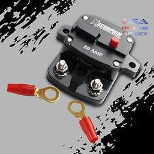 80 AMP IN-LINE POWER MARINE RATED CIRCUIT BREAKER REPLACES FUSE HOLDER 12Volt