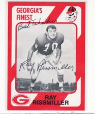 RAY RISSMILLER GEORGIA UNIVERSITY  AUTOGRAPHED CARD W/ENVELOPE