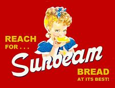 "TIN SIGN ""Sunbeam at it's Best""  Food Art Deco Garage Wall Decor"