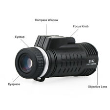 New SVBONY 8x42 Tactical Monocular Compass Rangefinder FMC BaK4 Waterproof 56.0°