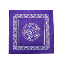 1pc 49*49cm Tarot game tablecloth non-woven material board game purple color  FL