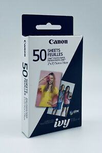"(New) Canon ZINK Photo Paper For Canon Ivy Mini Photo Printer, 50 Sheets 2"" x 3"""