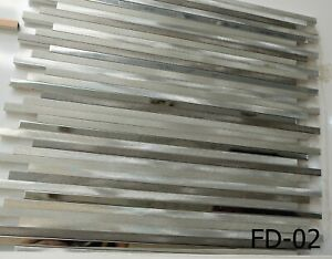 Grayscale Aluminium Mosaic Tile | 1 sheet 30cm x 30cm x 8mm | 11 sheets 1sqm