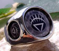 WHITE LANTERN CORPS RING STEEL RED LIFE BLUE SILVER DC COMICS GREEN HERO N53
