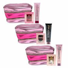 Victoria's Secret Gift Set Perfume Glimmer Wash Scrub Train Case Edp Spray New