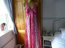 MONSOON MAXI DRESS SIZE 12 SILK BLEND ASYMMETRIC EVENING FORMAL PARTY WEDDING
