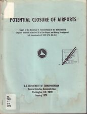 Potential Closure of Airports January 1978 FAA Library 080817nonDBE