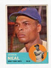 1963 Topps Charlie Neal New York Mets #511 Baseball Card