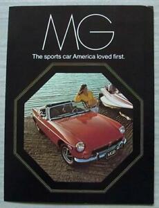 MG CAR RANGE USA Sales Brochure Nov 1972 #AMG 3 250M 11/72 MGB Midget MGB GT