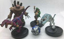 Lot Of 4 WOW PREPAINTED MINIATURES Set D Druid Beasts For RPG Tabletop DND