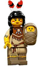 LEGO Minifigures Series 15 Indian / Tribal Woman with baby + feathers