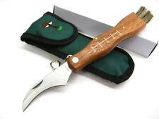 MAM Portugal 2590 Mushroom Folding Brush Knife w/ Keychain + Belt Sheath MAM2590