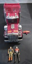 Vintage M.A.S.K. Rhino Semi Truck Cab & figures Mask Kenner 1985 Used