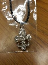 Silver Fleur-de-lis Necklace, Mardi Gras Fashion Jewelry, fashion jewelry
