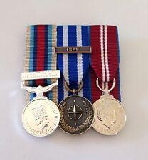 Court Mounted Miniature Medals, Afghanistan Herrick, NATO ISAF, Diamond Jubilee