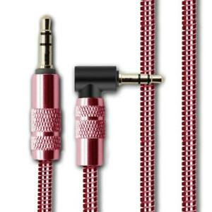 1M 3.5mm Jack Plug Aux Metal Cable Audio Lead For Headphone/MP3/iPod/Car/iPhone