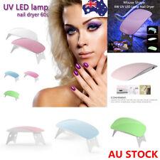 6W LED Light Lamp UV Nail Art Dryer Curing Manicure Gel Gelish Timer Polish Nail
