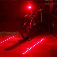 2 Laser +5 Led Rear Cycling Bicycle Bike Tail Safety Warning Flashing Lamp Light