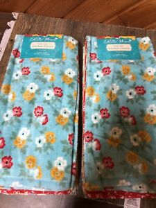 """8 Piece Pioneer Woman Spring Floral Kitchen Towels 16""""x28"""" Brand New"""